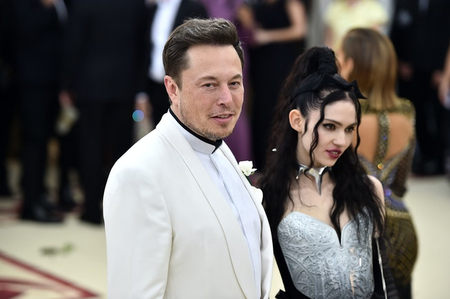 Elon Musk and Grimes attend the Heavenly Bodies: Fashion & The Catholic Imagination Costume Institut...