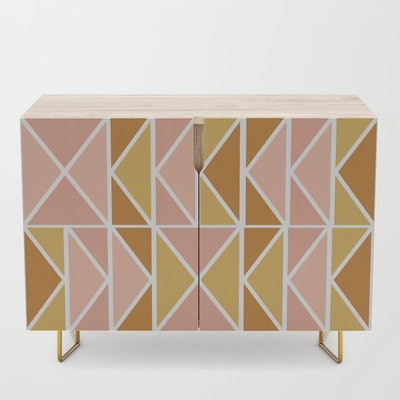 Blush and Terracotta Shapes Credenza