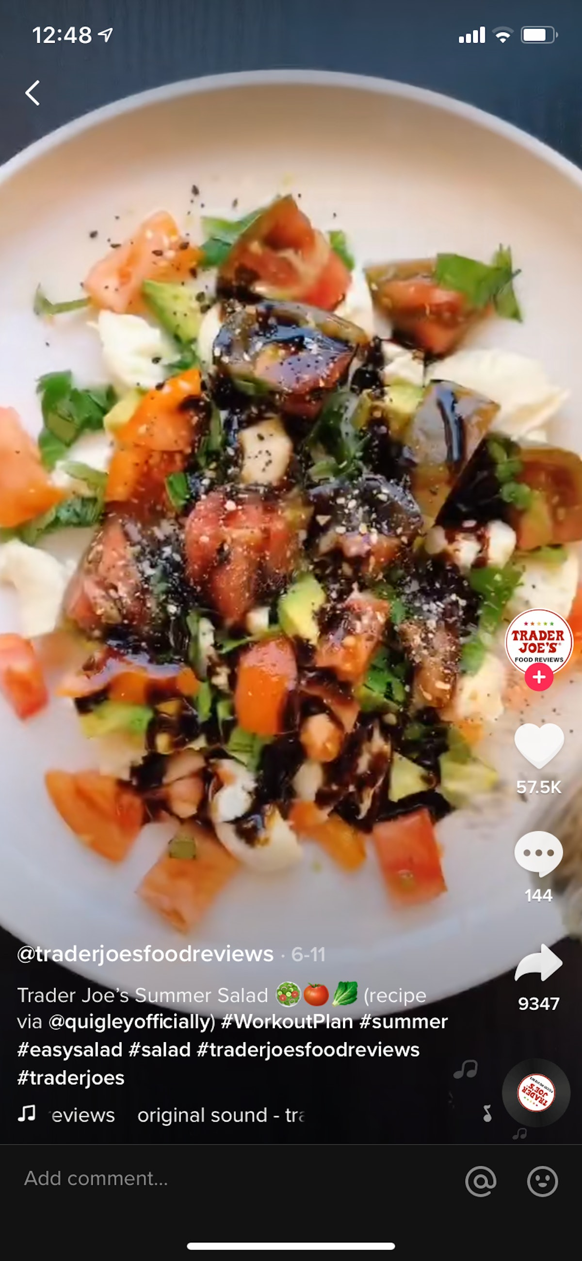 A summer salad on TikTok uses two must-have products from Trader Joe's.