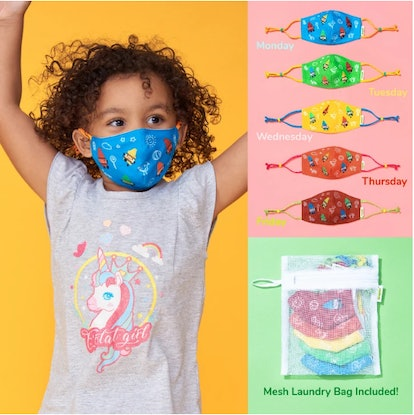 Crayola has a complete school week of face masks ready to go.