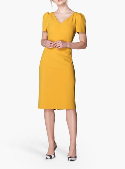 L.K.Bennett Rebecca Crepe Shift Dress, Mustard
