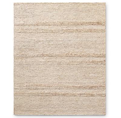 Wabi-Sabi Hand-Knotted Stripe Jute Rug 8' x 10'
