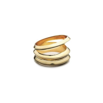 Hedron Three Row Ring