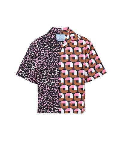 Double Match Cotton Shirt