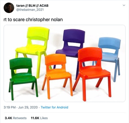 Christopher Nolan chair meme