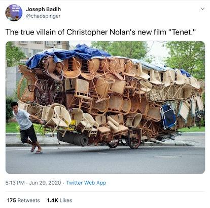 Christopher Nolan chair meme (screenshot)