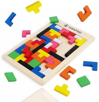 USATDD Wooden Tetris Puzzle