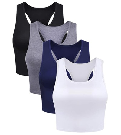 Boao Crop Tank Tops (4-Pack)