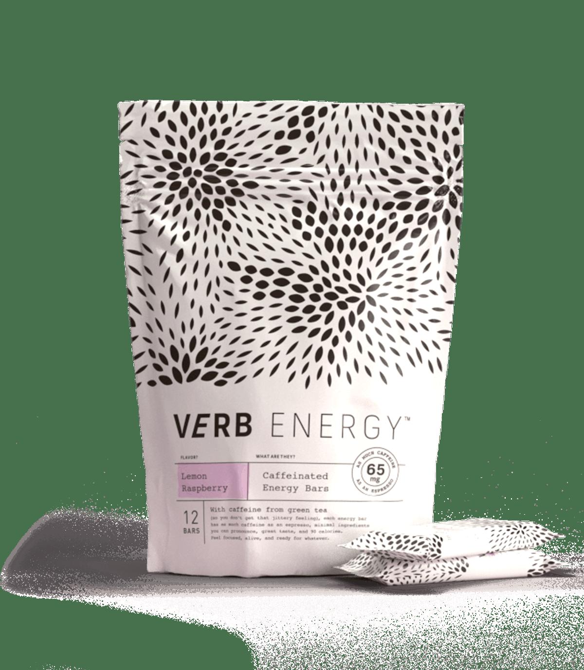 Verb Energy Lemon Raspberry Bars