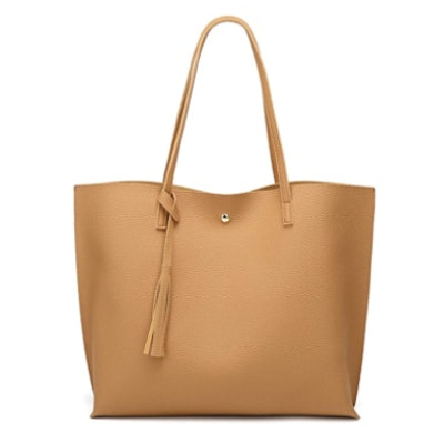 Deubea Faux Leather Tote Bag