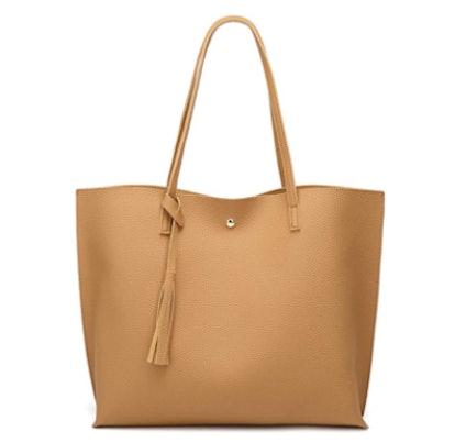 Deubea Faux Leather Tote Bag