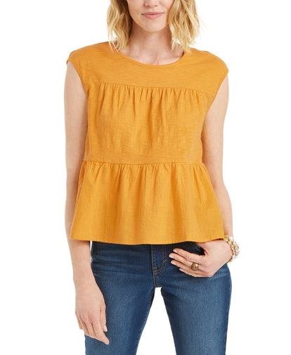 Style & Co Cotton Tiered Tank Top