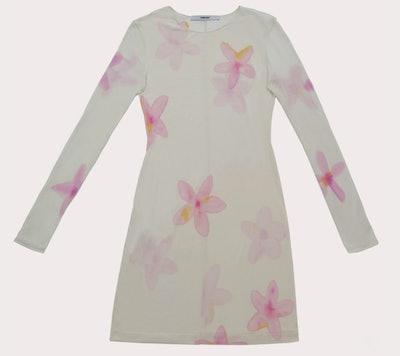 Hand-Painted Sheer Silk Dress