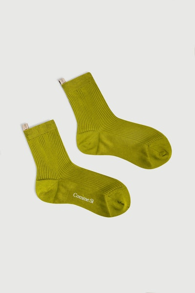Comme Si Silk Dress Socks