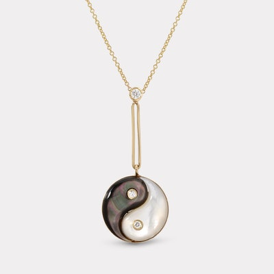 Double Stone Yin Yang Pendant