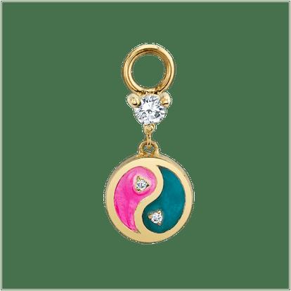 Pink & Turquoise Yin Yang Hoop