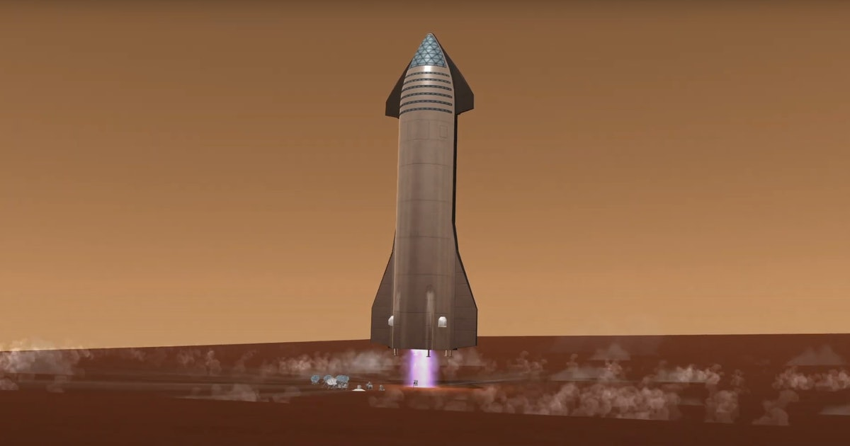 SpaceX Mars city: incredible fan video shows Starship returning to Earth