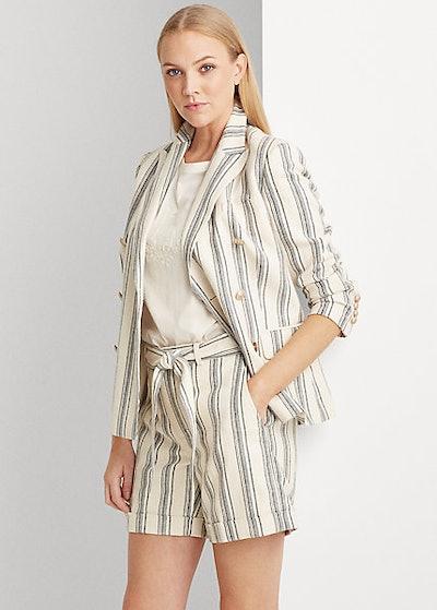 Ralph Lauren Striped Linen Twill Blazer