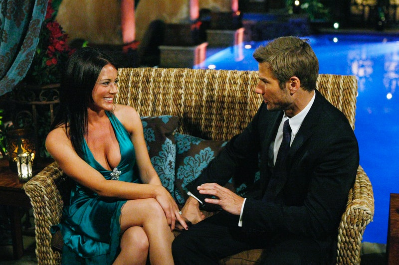 Chantal O'Brien and Brad Womack on The Bachelor, via the ABC press site.