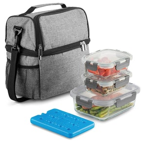 Fine Dine Insulated 2-Compartment Lunch Bag