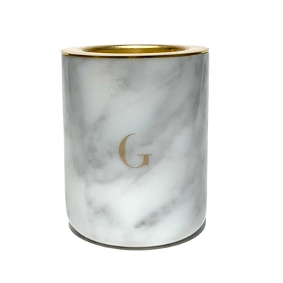 Carrera White Marble Scented Candle