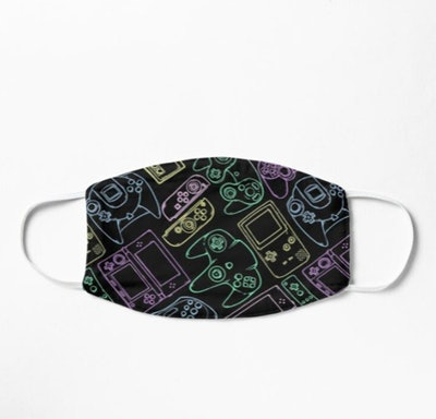 Video Game Controllers Patter Face Mask