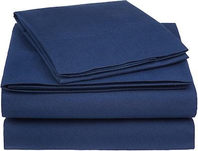AmazonBasics Essential Cotton Blend Bed Sheet Set (4 Pieces)