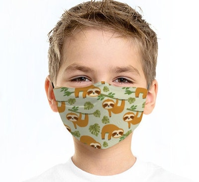 Sloth Face Mask For Kids