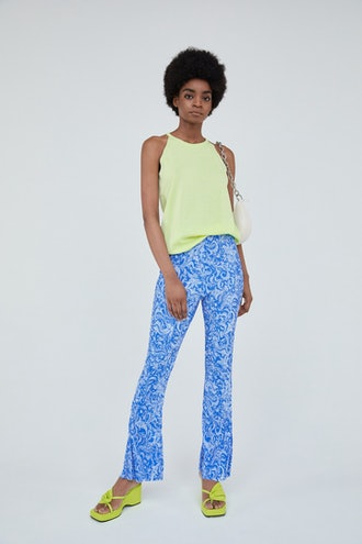 Pleated Elastic Pants