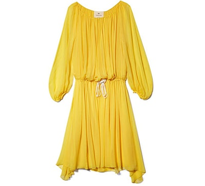 BY.BONNIE YOUNG Short Yellow Drawstring Dress