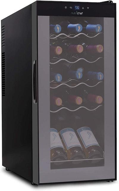 Nutrichef 15-Bottle Wine Refrigerator