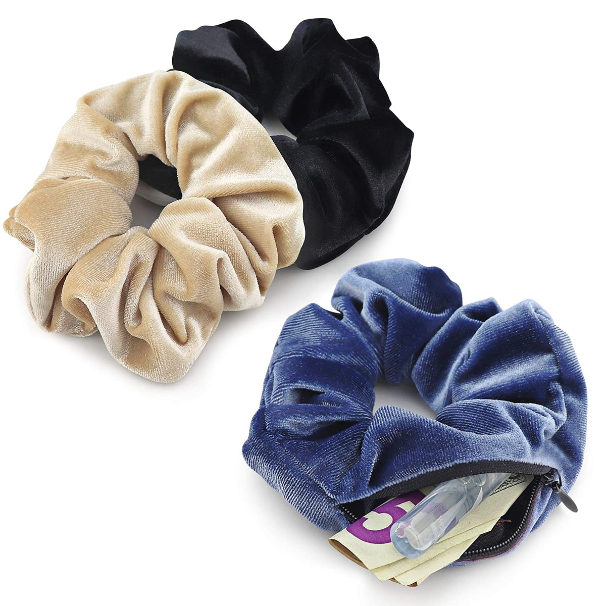 LOKISTASHED Velvet Scrunchies (3-Pack)