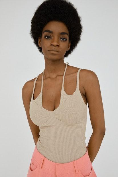 Underlayered Knit Top