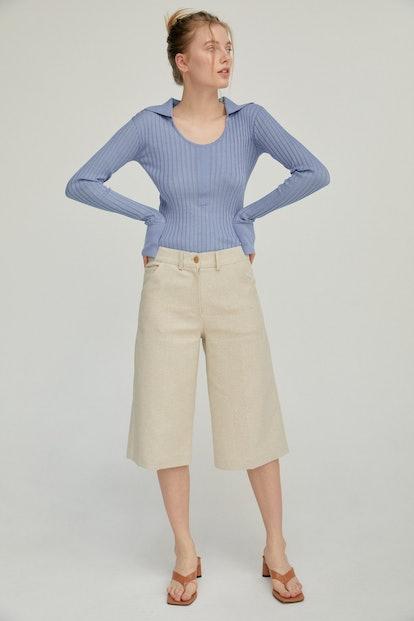 Linen Trouser Shorts