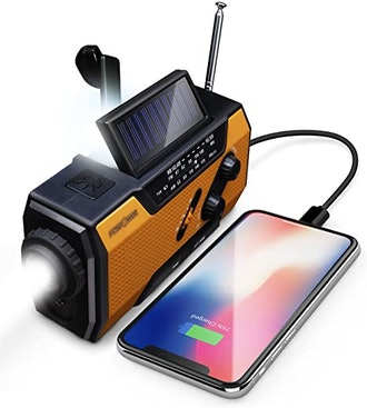 FosPower Emergency Solar Hand Crank Portable Radio