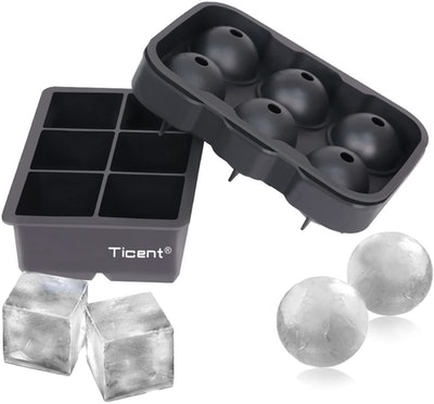 Ticent Ice Cube Trays (2-Pack)