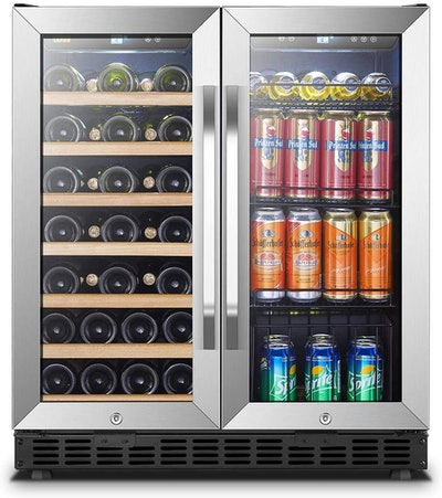 Lanbo 33-Bottle and 70-Can Wine and Beverage Cooler