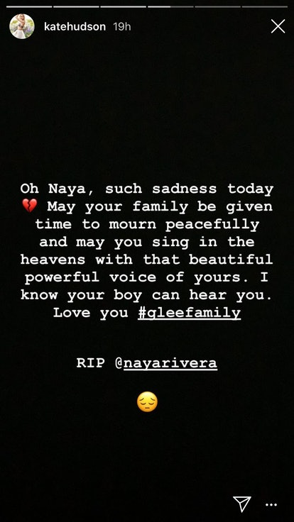 Kate Hudson 'Glee' guest star pays tribute to Naya Rivera