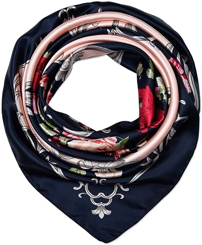 Satin Square Hair Scarves and Wraps