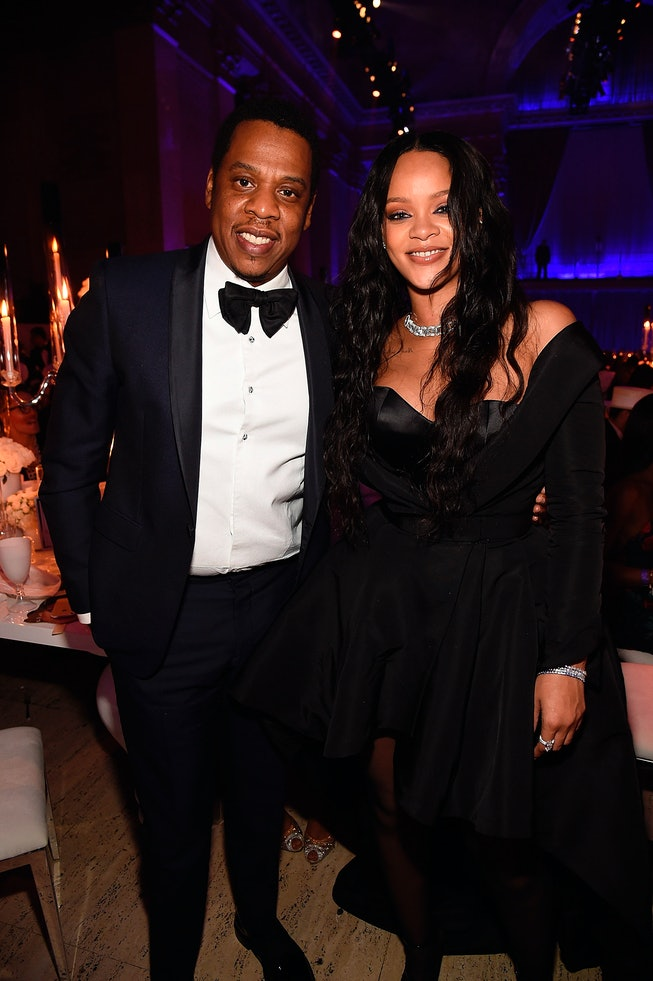 Jay-Z and Rihanna attend Rihanna's 3rd Annual Diamond Ball Benefitting The Clara Lionel Foundation at Cipriani Wall Street on September 14, 2017 in New York City.