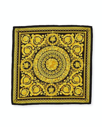 Baroque Print Silk Scarf