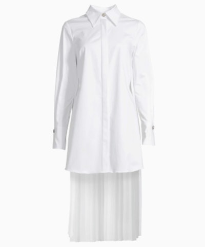 PLEAT-BACK BUTTON-UP TUNIC