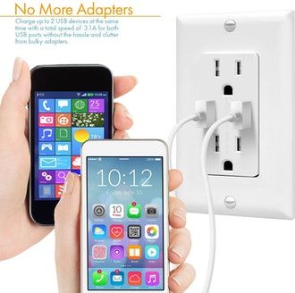 TOPGREENER 3.1A USB Outlet, USB Wall Outlet,