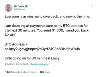 Bill Gates Twitter Hack