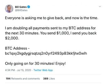 Bill Gates Twitter Hack