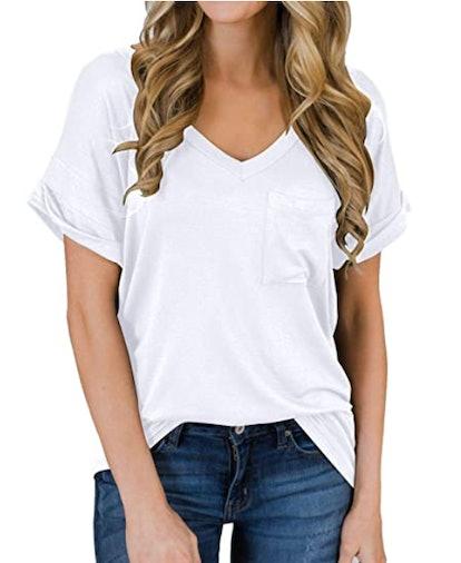 MIHOLL Short Sleeve V-Neck Shirt