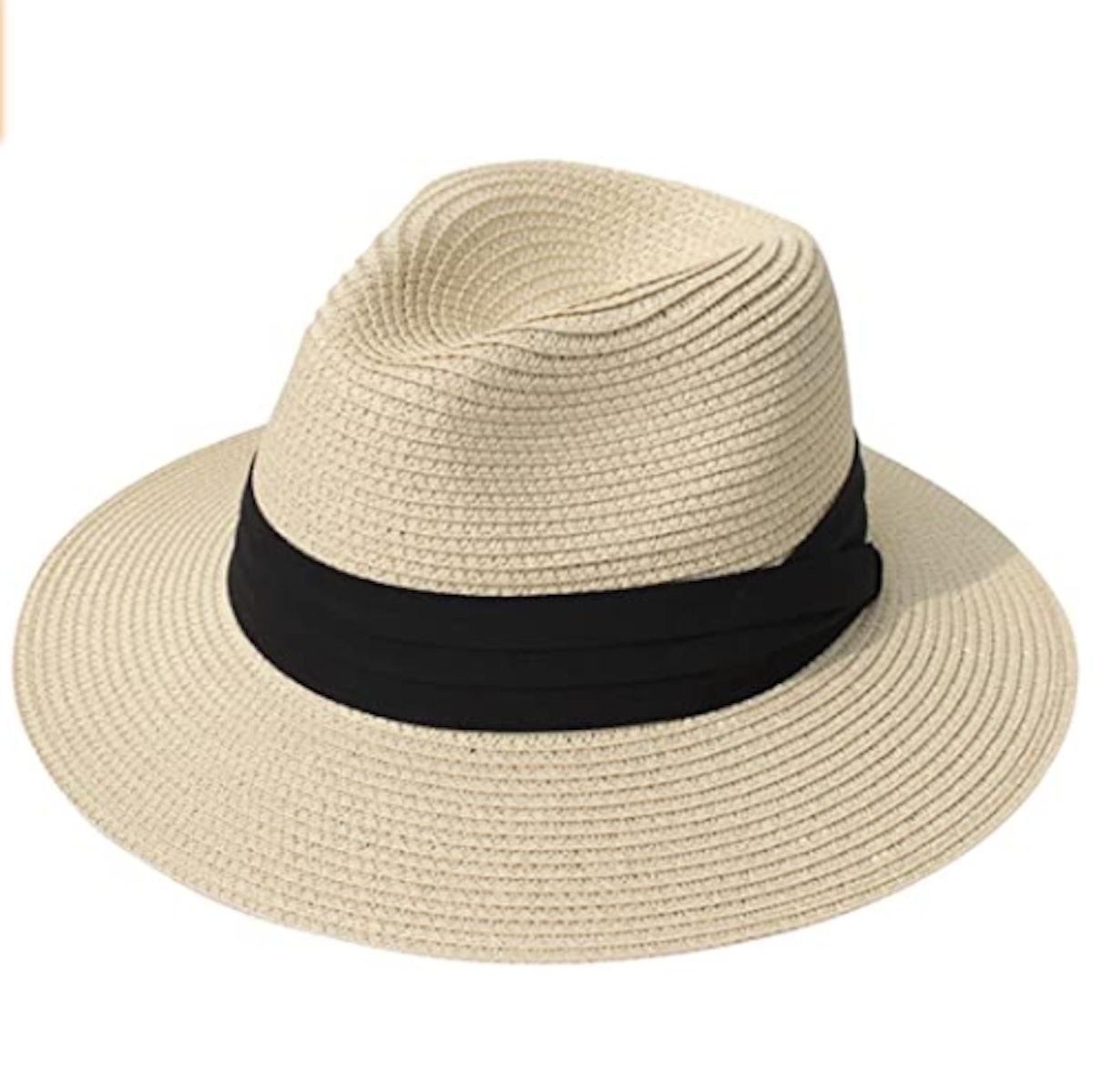 Lanzom Brim Straw Hat