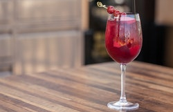 The Cheesecake Factory shared its red sangria drink recipe.