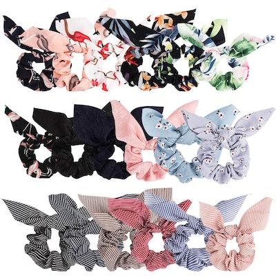 ANBALA Bow Scrunchies (18-Pack)