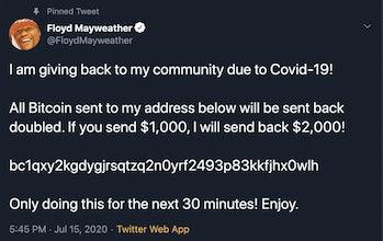 Floyd Mayweather Twitter Hack